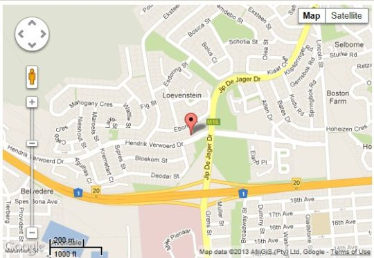 Map TC Villas  in Bellville  Northern Suburbs (CPT)  Cape Town  Western Cape  South Africa