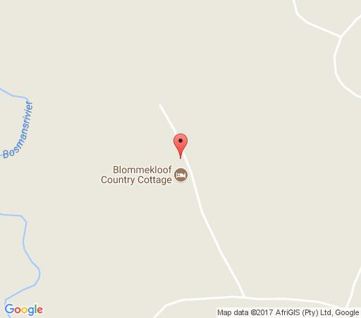 Map Blommekloof Country Cottage in Mossel Bay  Garden Route  Western Cape  South Africa