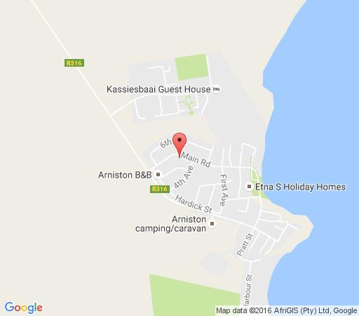 Map 16 on Main Self Catering Arniston in Arniston  Overberg  Western Cape  South Africa