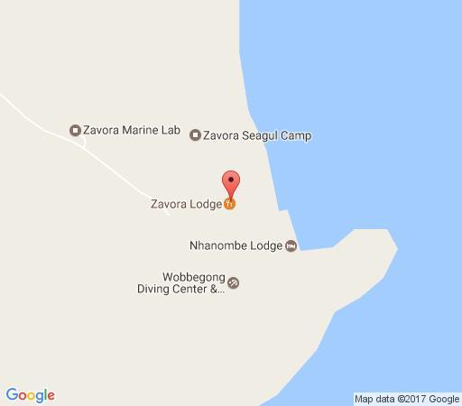 Map Zavora Lodge  in Inhambane  Mozambique