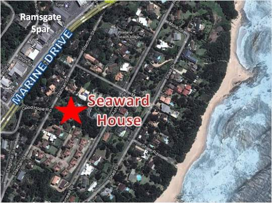 Map Seaward House in Ramsgate  South Coast (KZN)  KwaZulu Natal  South Africa