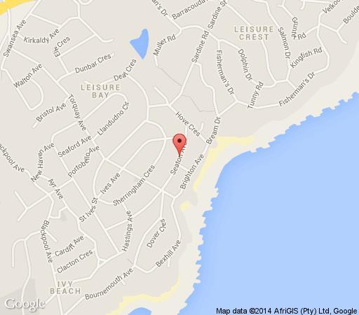 Map Tomyra\'s Lodge in Leisure Bay  South Coast (KZN)  KwaZulu Natal  Suid-Afrika