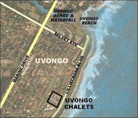 Map 13 Uvongo Chalets in Uvongo  South Coast (KZN)  KwaZulu Natal  South Africa