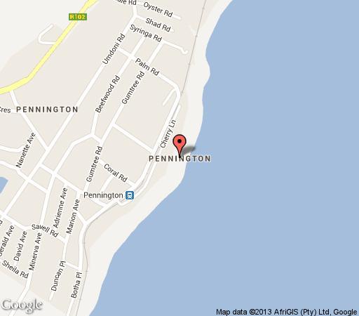 Map Olive Sunbird  in Pennington  South Coast (KZN)  KwaZulu Natal  South Africa