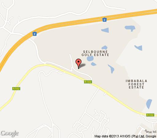 Map Amethyst Sunbird in Pennington  South Coast (KZN)  KwaZulu Natal  South Africa