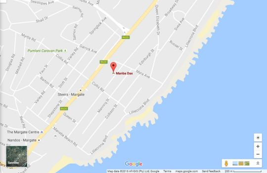Map Manaba Dax 4 in Manaba Beach  South Coast (KZN)  KwaZulu Natal  South Africa