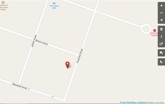 Map Blydevooruitsig Gastehuis in Sutherland  Hantam Karoo  Northern Cape  South Africa