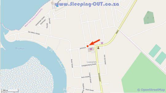 Map Laaiplek Hotel in Velddrif  West Coast (WC)  Western Cape  South Africa