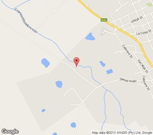 Map Little Willow Brooke in Franschhoek  Cape Winelands  Western Cape  Zuid-Afrika