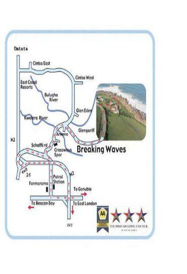 Map Makulu Manzi in Glengariff  East London  Amatole  Eastern Cape  South Africa