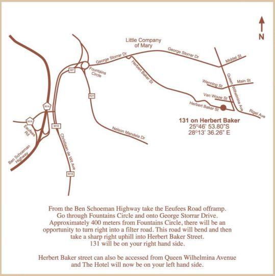 Map 131 on Herbert Baker in Groenkloof  Pretoria East  Pretoria / Tshwane  Gauteng  South Africa