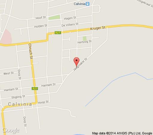 Map Tarantula Guest House  in Calvinia  Hantam Karoo  Northern Cape  Afrique du Sud