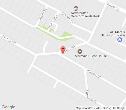 Map Annie\'s Flat in Struisbaai  Overberg  Western Cape  South Africa