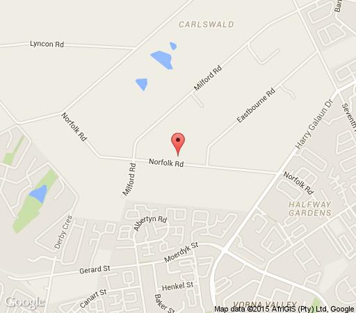 Map Tuareg Guest House in Carlswald  Midrand  Johannesburg  Gauteng  South Africa
