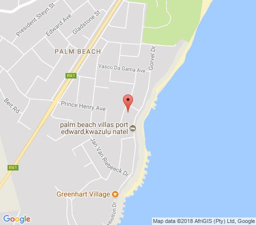 Map Ocean View Beach House in Palm Beach  South Coast (KZN)  KwaZulu Natal  South Africa