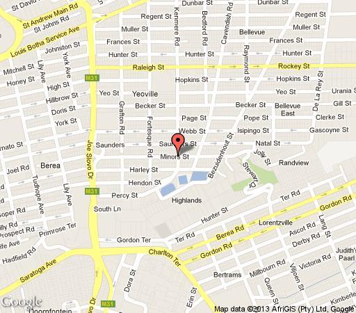 Map Anchor Guest Lodge in Yeoville  Northcliff/Rosebank  Johannesburg  Gauteng  South Africa
