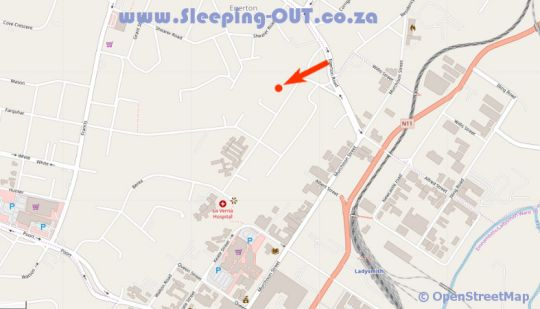 Map Boer en Brit Self Catering Guest House in Ladysmith  Battlefields  KwaZulu Natal  Afrique du Sud