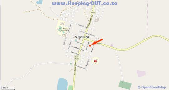 Map The Jupiter in Sutherland  Hantam Karoo  Northern Cape  South Africa