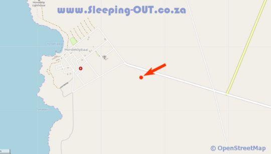 Map Honne-Pondokkies  in Hondeklipbaai  Namakwaland  Northern Cape  South Africa