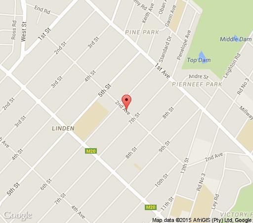 Map The Farm House in Linden  Northcliff/Rosebank  Johannesburg  Gauteng  South Africa