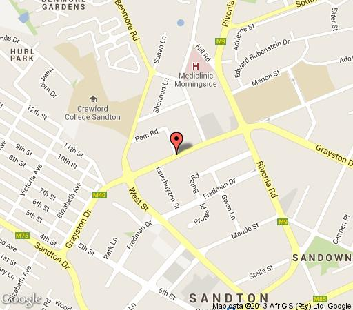 Map Sandton Executive Suites in Morningside (JHB)  Sandton  Johannesburg  Gauteng  South Africa