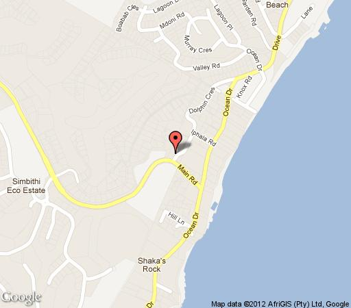 Map The Guesthouse in Ballito  North Coast (KZN)  KwaZulu Natal  South Africa