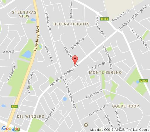 Map Somerset Villa Guesthouse  in Somerset West  Helderberg  Western Cape  South Africa