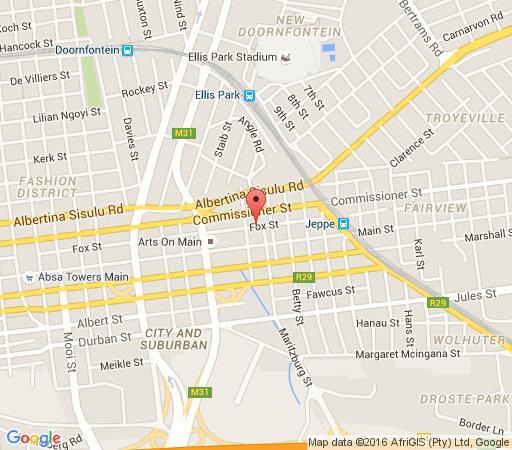 Map 12 Decades Art Hotel - Urban Hip Hotels in Kensington (JHB)  Johannesburg East  Johannesburg  Gauteng  South Africa
