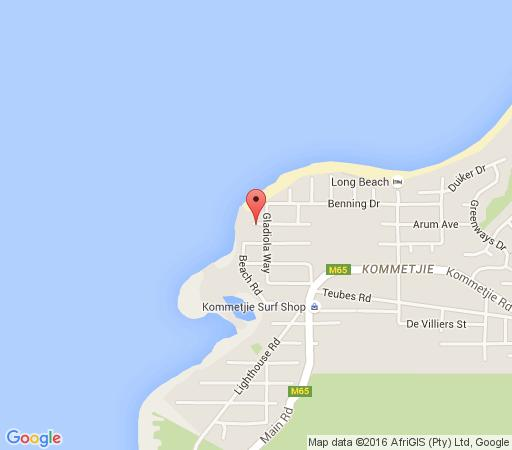 Map Arum Place in Kommetjie  False Bay  Cape Town  Western Cape  South Africa