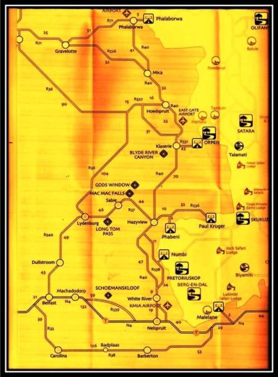 Map Nicole's Bush Lodge  in Hoedspruit  Valley of the Olifants  Limpopo  South Africa