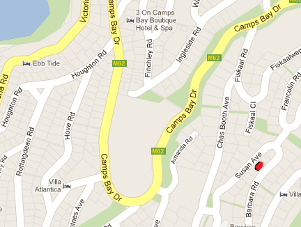 Map Camps Bay Villa  in Camps Bay  Atlantic Seaboard  Cape Town  Western Cape  South Africa