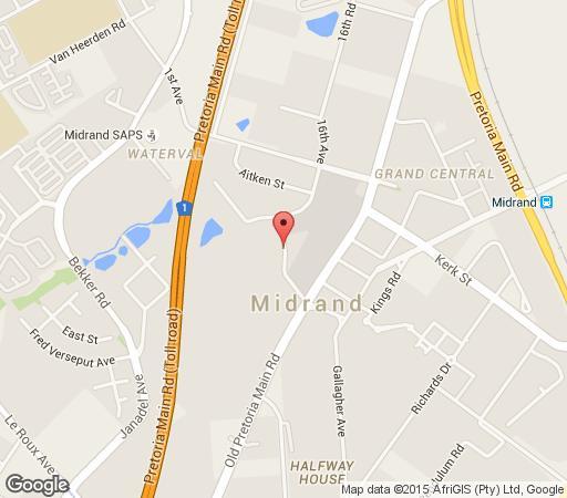 Map The Boulders Lodge in Halfway House  Midrand  Johannesburg  Gauteng  Suid-Afrika