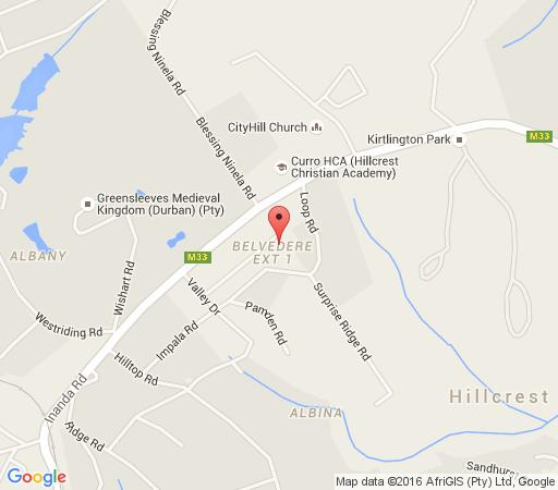 Map Rambling Rose in Hillcrest  Western Suburbs (DBN)  Durban and Surrounds  KwaZulu Natal  South Africa