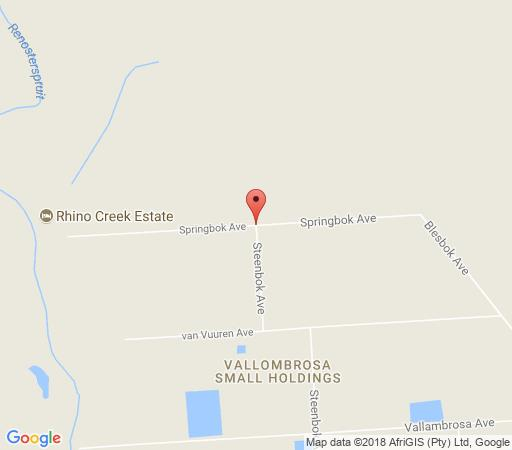 Map Rhino Creek Estate in Bloemfontein  Mangaung  Free State  South Africa
