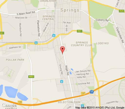 Map Goldfields Lodge  in Nigel  Ekurhuleni (East Rand)  Gauteng  South Africa