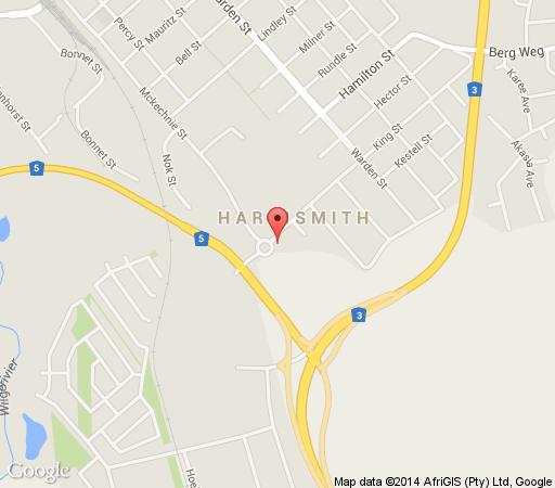 Map Sir Harry\'s Lodge in Harrismith  Thabo Mofutsanyana  Free State  South Africa