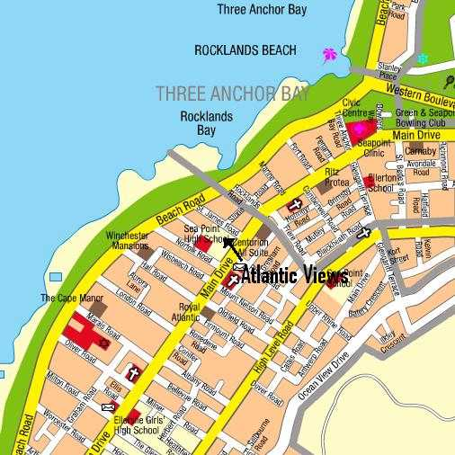 Map Atlantic Views 603 in Sea Point  Atlantic Seaboard  Cape Town  Western Cape  South Africa