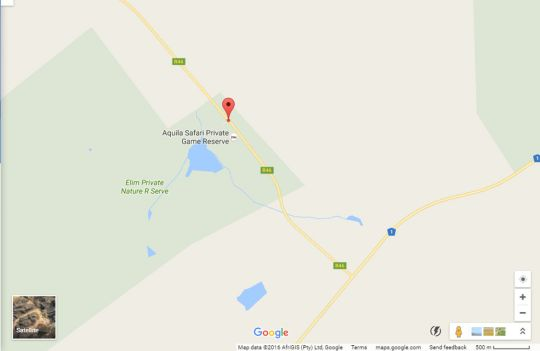 Map Aquila Private Game Reserve & Spa in Touws River  Breede River Valley  Western Cape  South Africa