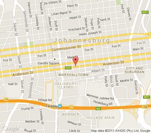 Map Faircity Mapungubwe in Marshalltown  Johannesburg CBD  Johannesburg  Gauteng  Südafrika