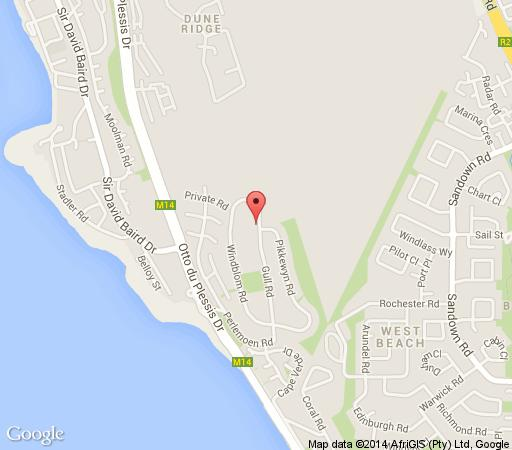 Map Secret Garden Guesthouse in Bloubergstrand  Blaauwberg  Cape Town  Western Cape  South Africa
