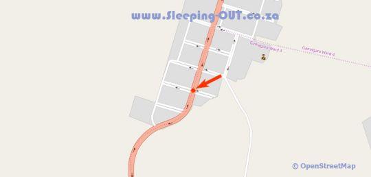 Map Geluksdam Guest House in Olifantshoek  Green Kalahari  Northern Cape  South Africa