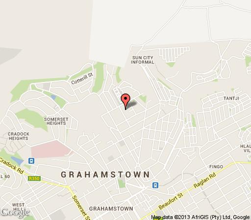 Map A White House Guest House in Grahamstown  Cacadu (Sarah Baartman)  Eastern Cape  South Africa