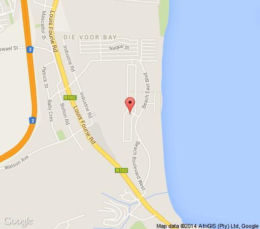 Map Diaz Beach Guest House in Mossel Bay  Garden Route  Western Cape  South Africa