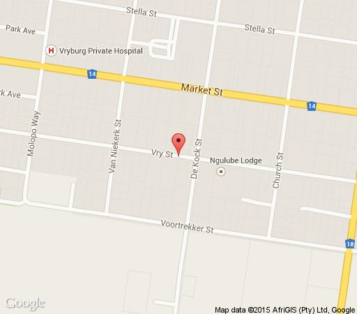 Map The Times Premier Lodge in Vryburg  Bophirima  North West  South Africa