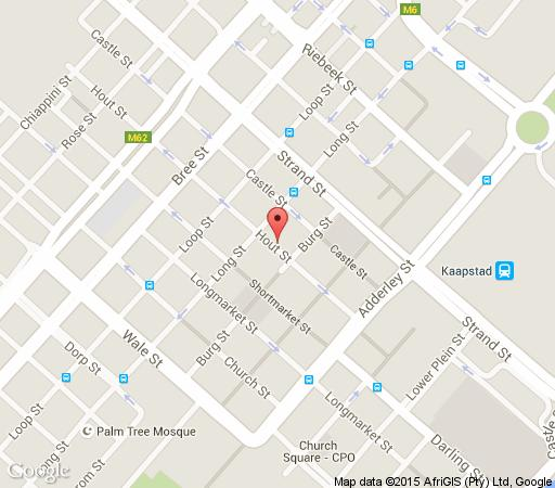 Map Forty8 Backpackers Hotel in Cape Town CBD  City Bowl  Cape Town  Western Cape  South Africa