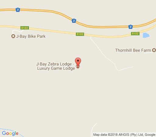 Map JBay Zebra Lodge in Jeffreys Bay  Cacadu (Sarah Baartman)  Eastern Cape  South Africa