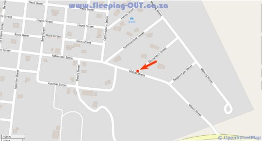 Map Afrisleep Guesthouse in Fouriesburg  Thabo Mofutsanyana  Free State  South Africa