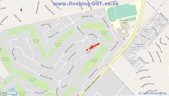 Map La Petite Maison Woodhill in Woodhill  Pretoria East  Pretoria / Tshwane  Gauteng  South Africa