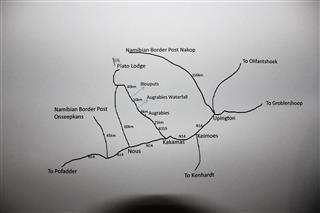 Map Plato Lodge in Augrabies  Green Kalahari  Northern Cape  Suid-Afrika