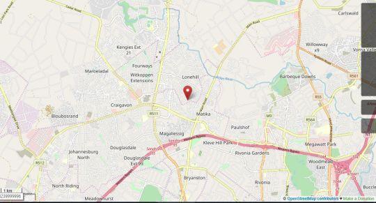 Map Lonehill B&B in Lonehill  Sandton  Johannesburg  Gauteng  South Africa